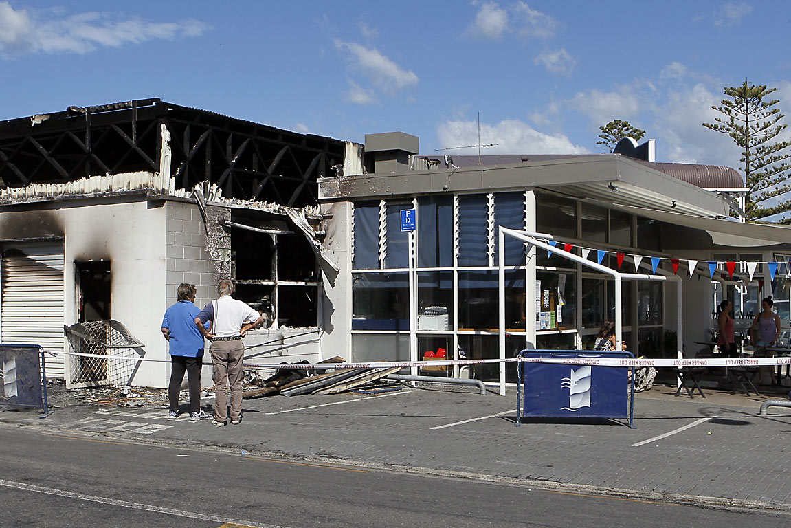Akaroa bakery back section destroyed