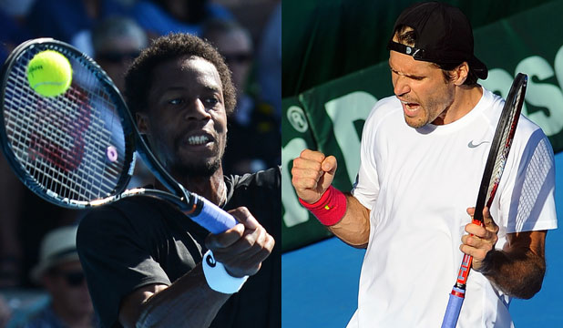 Gael Monfils and Tommy Haas