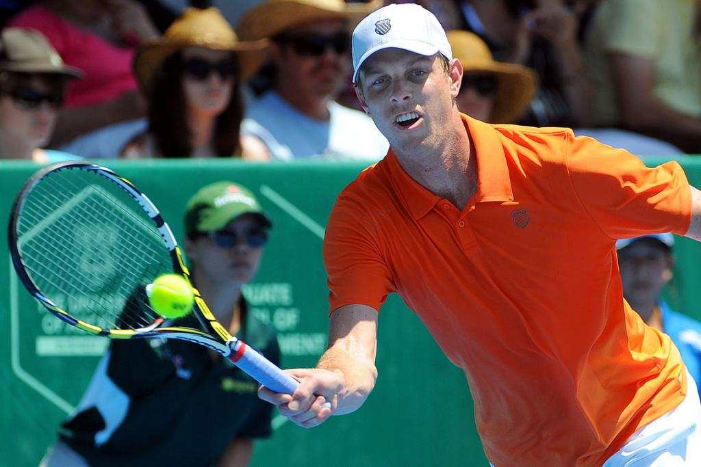 Sam Querrey on day four of the Heineken Open.