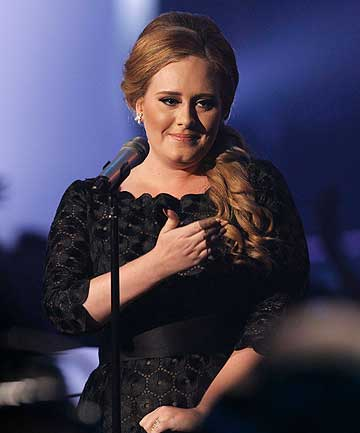 SHE'S BACK: The Golden Globes will be Adele's first performance since giving birth.