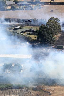 OUT OF CONTROL: Land on fire on Shands Rd.
