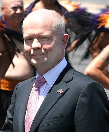 SIGNIFICANT EVENT: British Secretary of State and Foreign Secretary William Hague gets a Kiwi welcome.