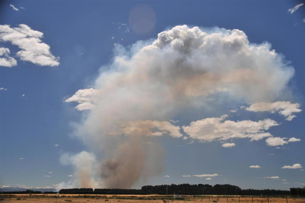 The fire at West Melton, Canterbury.