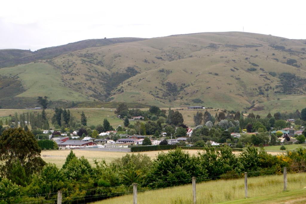 A view of Waikaia from the town's cemetery.