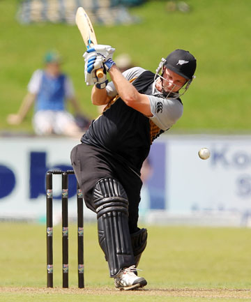 RIGHT AT HOME: Colin Munro in action during the T20 series.
