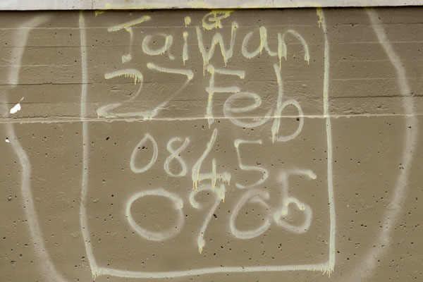 Taiwanese USAR tags in the central city after the Febuary earthquake