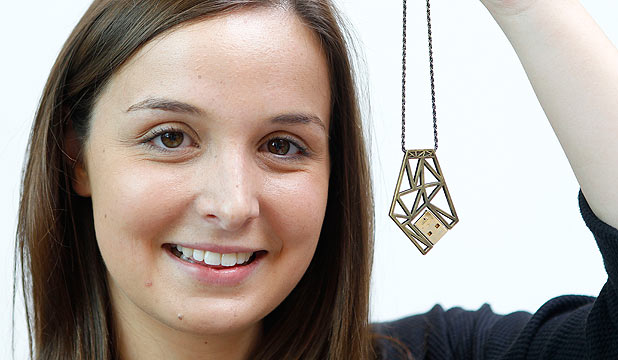 DIGITAL MAKEOVER: Ashleigh Woodmass used hands-on skill and 3D printing to create her contemporary jewellery.