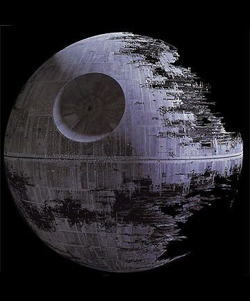 COST THE MOON: The estimated cost of real-world Death Star came in at  US$850,000,000,000,000,000.