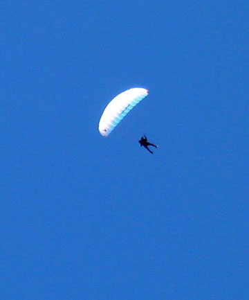 French paraglider