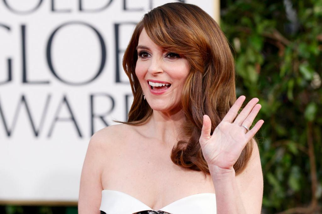 Host Tina Fey on the red carpet.