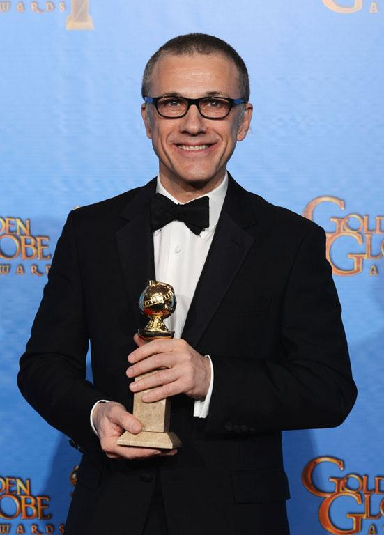 Actor Christoph Waltz, winner of Best Supporting Actor in a Motion Picture for Django Unchained.