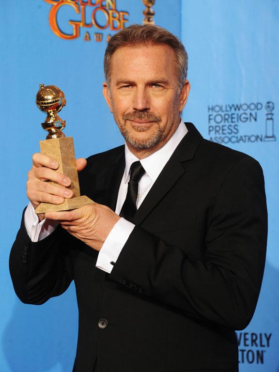 Actor Kevin Costner, winner of Best Actor in a Mini-Series or a Motion Picture Made for Television for Hatfields & McCoys.