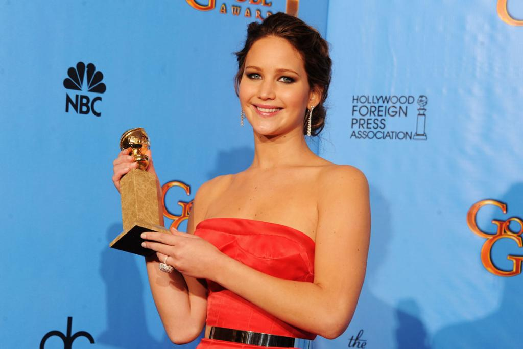 Actress Jennifer Lawrence, winner of Best Performance by an Actress in a Motion Picture for The Silver Linings Playbook.