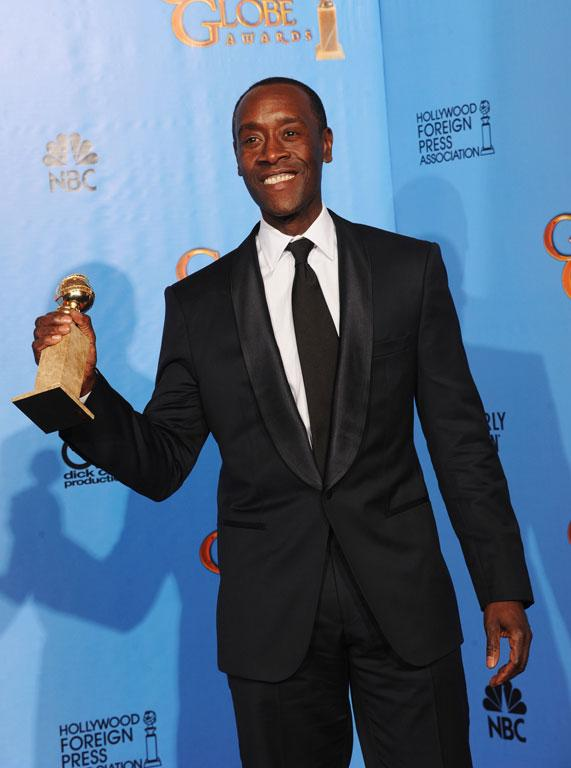 Actor Don Cheadle, winner of Best Actor in a Television Series (Musical or Comedy) for House of Lies.