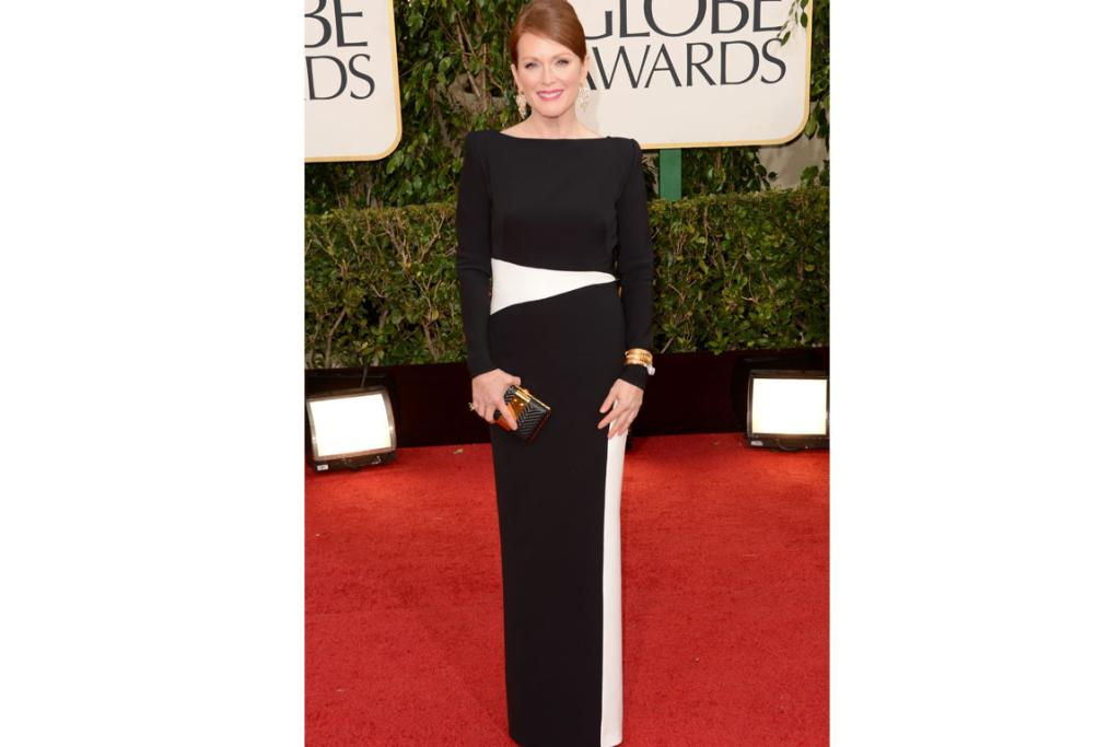 Julianne Moore was dressed by best bud Tom Ford, natch (we're struggling from serious friendship group envy right now). The 47-year-old Globe winner's not afraid to make a statement, and this geometric look was surprisingly subtle for her, but still super-chic.