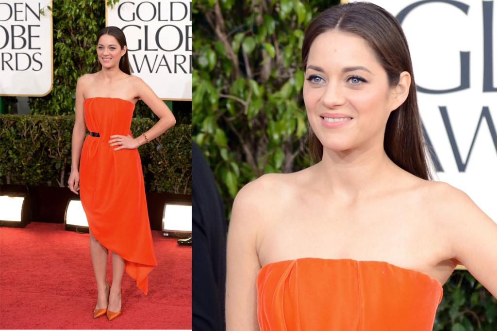 French screen goddess Marion Cotillard shows those Yanks how it's done in velour Christian Dior Couture. Many will say it's too simple, but we don't, this look's already firmly in our fantasy wardrobe.