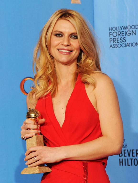 Claire Danes, winner of Best Best Actress in a Television Series (Drama) for Homeland.