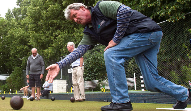 Former New Zealand cricketer Brian McKechnie at the Elmwood Bowling Club