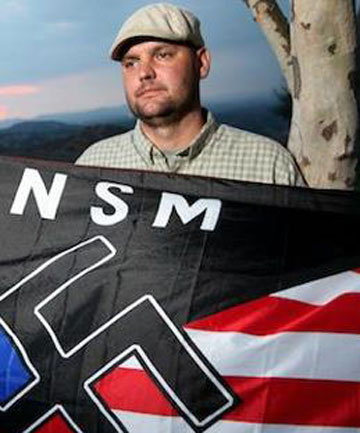 Prominent Californian neo-Nazi Jeffrey Hall was murdered by his 10-year-old son.