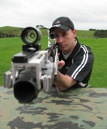 ON THE MARK: Paralympic gold medallist Michael Johnson and Mt Eden's Auckland Parafed Shooting Club are resurrecting the sport of air rifle shooting.