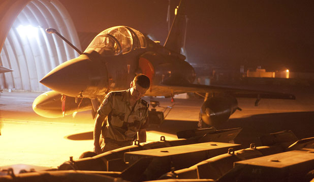 READY FOR ACTION: A French Mirage 2000D fighter plane in N'Djamena, Chad, is prepared for action.