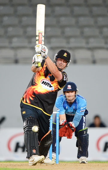 SMASHING FORM: Jesse Ryder's form for Wellington has Black Caps selectors hoping he will be available for the England series.