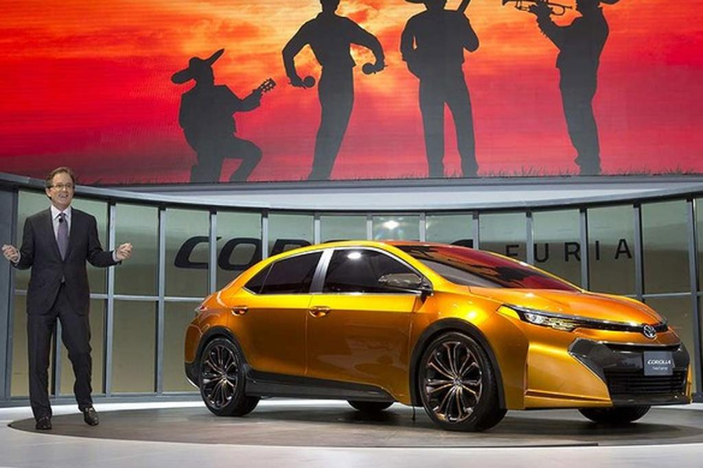 The Toyota Corolla Furia concept at the Detroit Motor Show.