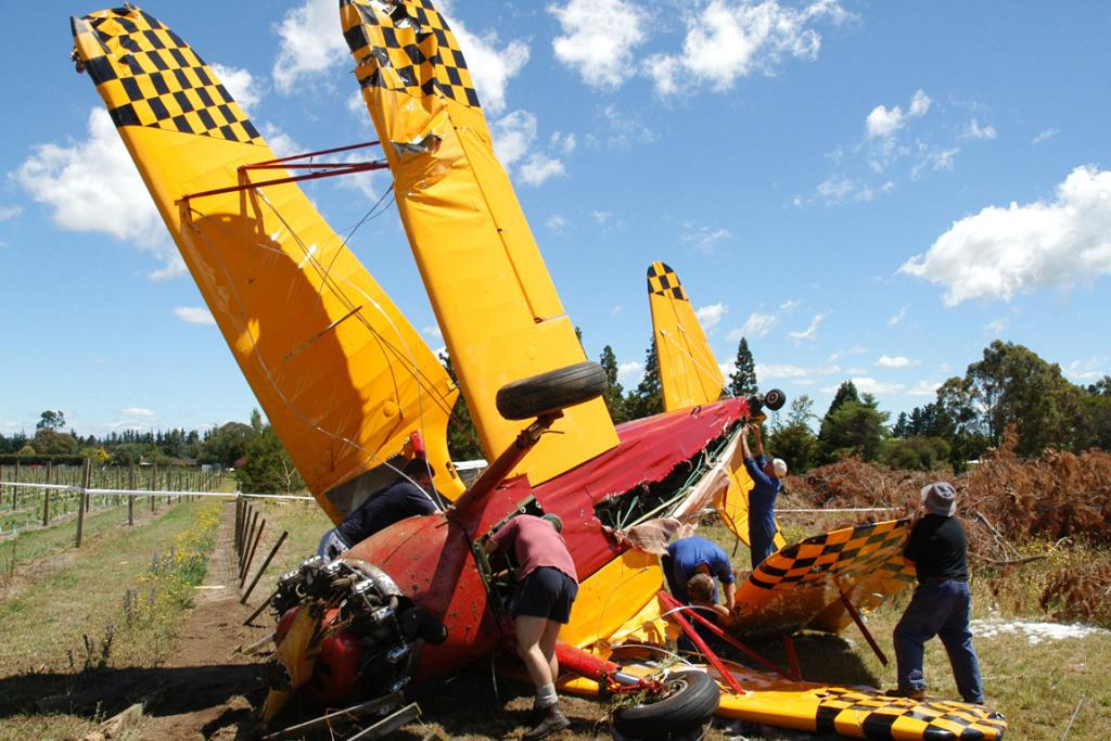 Holmes crashed his plane into a deer fence on Ngamatea Station near Taihape in 2004.