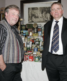 A lot of caddies: Antique dealer Peter Wedde in Blenheim to view Mr Brooks' collection of up to 3000 tea caddies