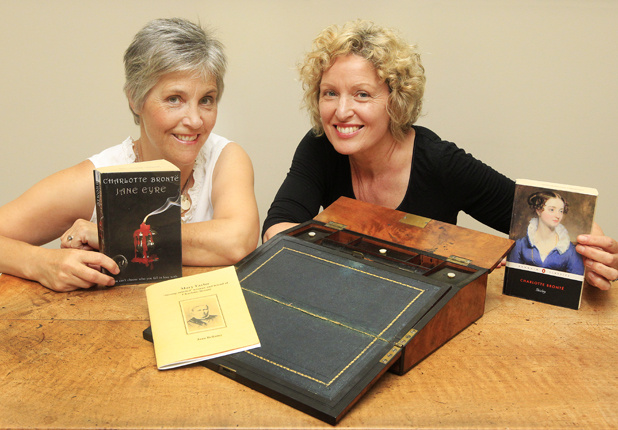 Collecting curios:  Jane Vial and Ros Gibson with an antique writing slope that will feature in an upcoming antiques roadshow fundraiser at Marlborough Girls' College in Blenheim.  A writing slope is a portable box with a sloped surface for writing on and holding writing materials.