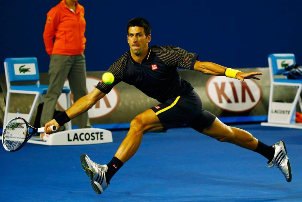 Novak Djokovic lost just six games as he cruised to a straight sets victory over American Ryan Harrison.