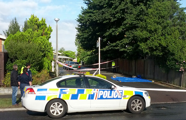 INVESTIGATION: The scene in St Albans this morning.
