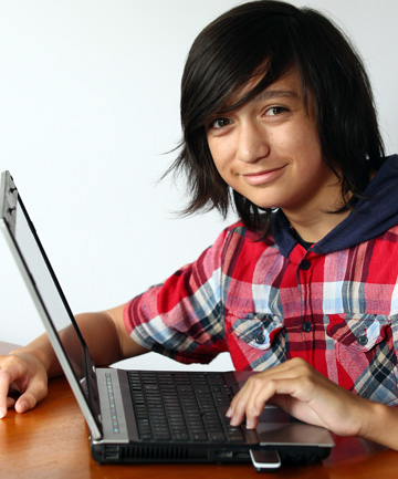 Gian Reid, 14, is attending a Code Camp at Waikato University