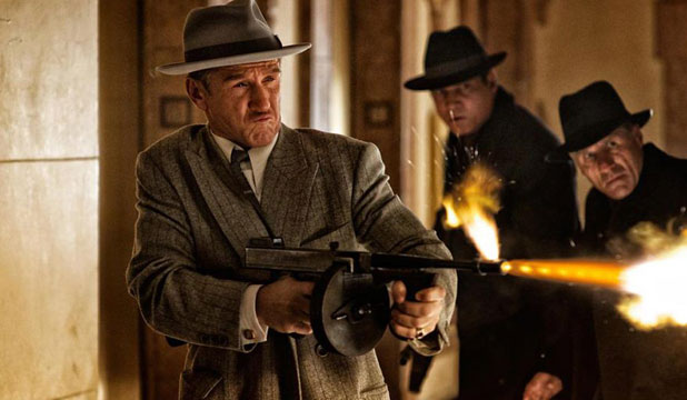 Bullets away: Lots of gunfire in Gangster Squad, a new film starring Ryan Gosling.