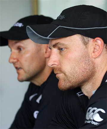 Brendon McCullum and Mike Hesson