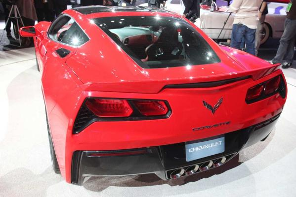 The 2014 Chevrolet Corvette Stingray at the Detroit auto show.