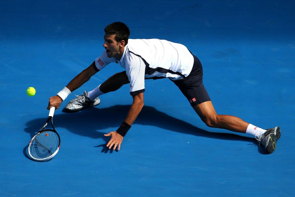 Novak Djokovic is at full strength during his win over Radek Stepanek.