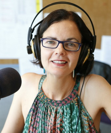 LAST WORDS: Katrina Smith on air during her final show for Nelson's More FM. She is moving to a new job at The Breeze in Wellington.