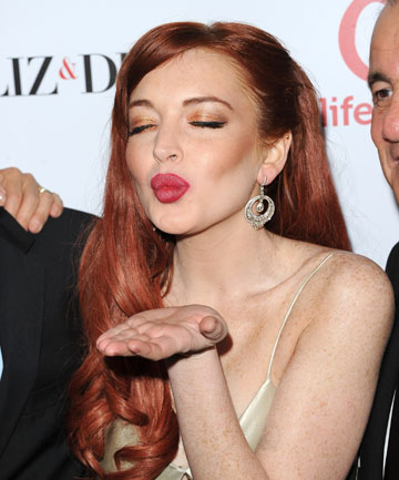 """Linsday Lohan at the premiere Of Lifetime's """"Liz & Dick"""". She's desperate to star in a musical."""