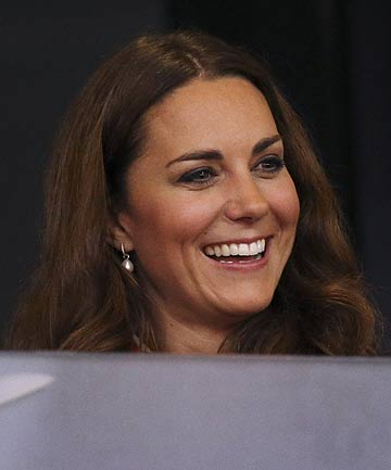 COMING OUT: Kate Middleton, the Duchess of Cambridge, made her first public appearance since being hospitalised for morning sickness.
