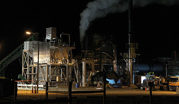 IMPORT REPLACEMENT: Solid Energy's briquette plant at Mataura. The company says it is still keen to exploit lignite reserves.