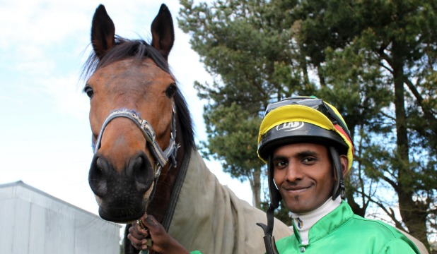 BIG OCCASION: Inferno and jockey Shankar Muniandy could be a winning combination in Saturday's Wellington Cup.