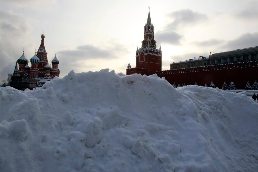 Snowed in at Red Square in central Moscow.