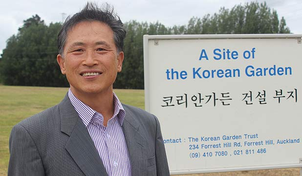 HOPING TO PAY TRIBUTE: Ben Lee, executive director of the Korean Garden Trust.