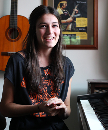 Waiting game: Marlborough Girls' College student Emma Logan has to wait and see if she has made it to the next round of television singing competition X Factor NZ
