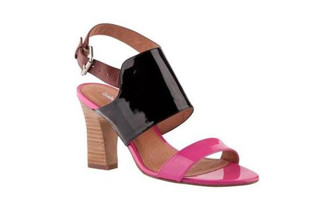 Fuschia and black shoes, $119 from Overland.