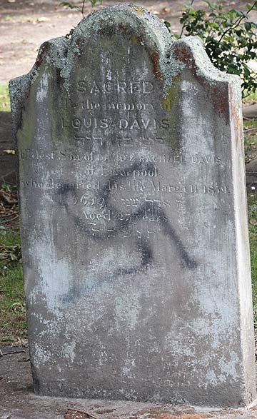 PERMANENT SCAR: Despite extensive cleaning, further clean-up work would damage the headstones further.