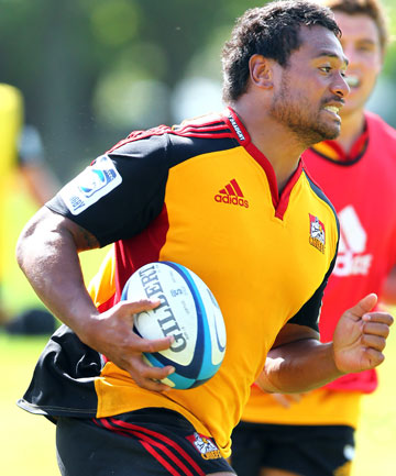 CAN'T WAIT: Chiefs Super Rugby prop Pauliasi Manu during training.