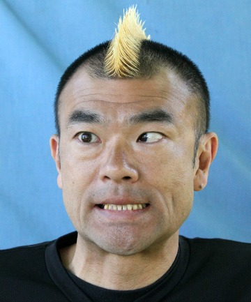 RULE BREAKER: Hiro-Pon, of Japanese double act Gamarjobat, can do the impossible with his eyes.