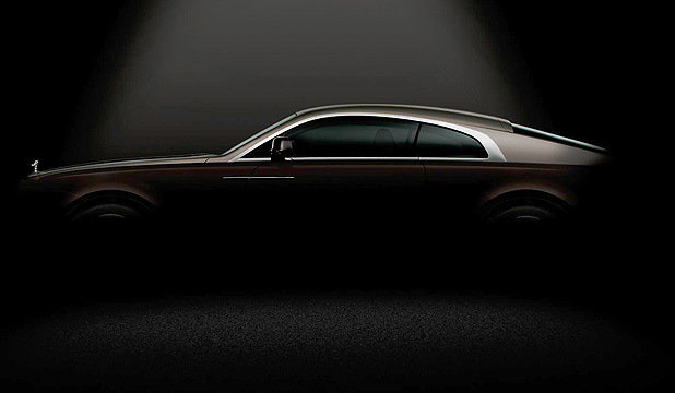 The first official photo of Rolls-Royce's Wraith, a coupe version of the Ghost.